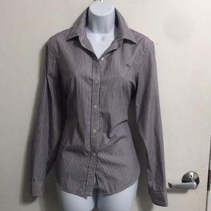 Ralph Lauren Stripped Button Down Shirt Sz PL